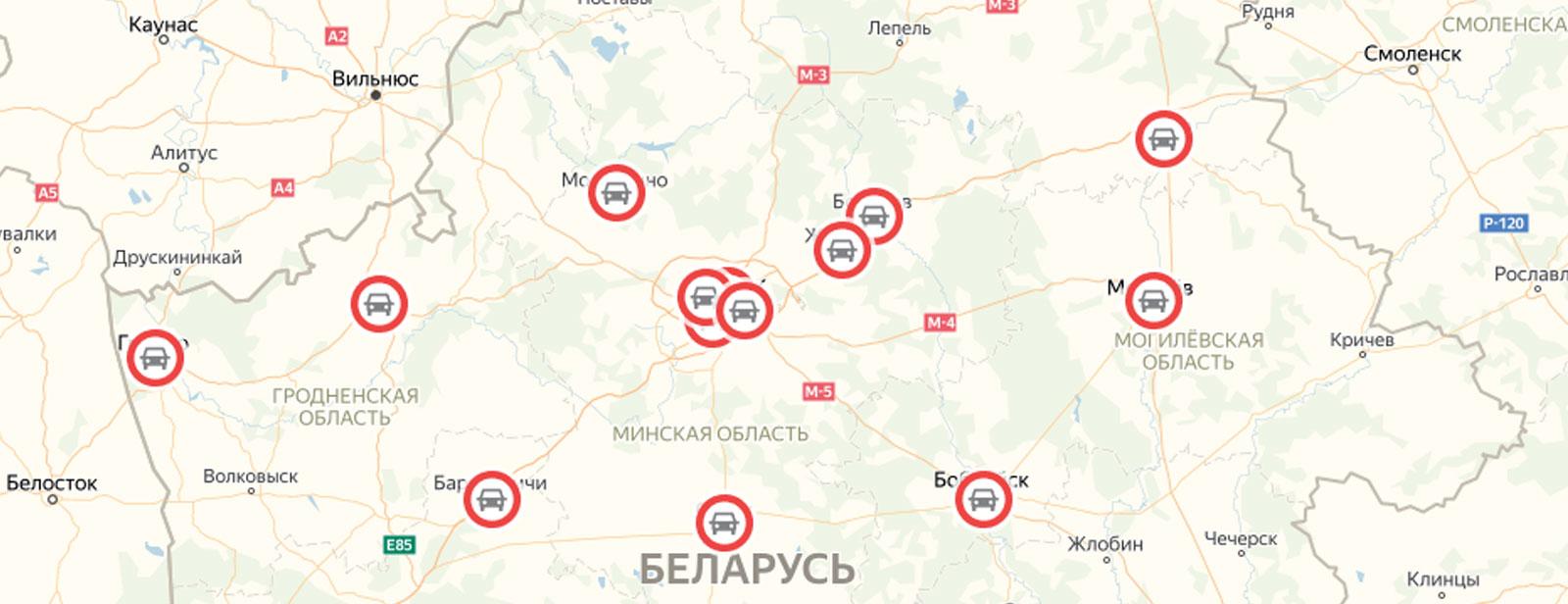 Карта точек офисов